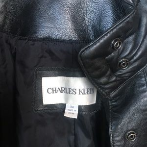 Jackets & Coats - Full length black leather coat